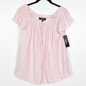 Lulu's Off the Shoulder Blush Pink Top NWT Size M